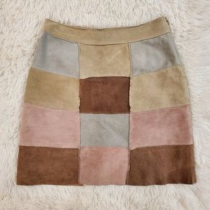 For joseph Couture suede Patchwork Skirt